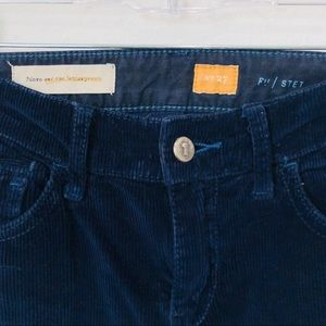 Pilcro and the Letterpress Pants - Anthropologie Pilcro navy cord pants 27